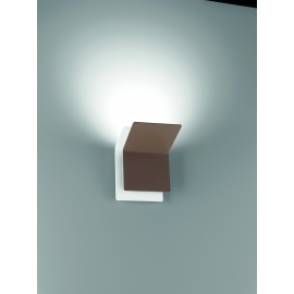 Applique Led Double Giarnieri aluminium marron 15w led 1350 lumens 3000k