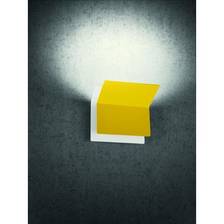 Applique Led Double Giarnieri aluminium moutarde 15w led 1350 lumens 3000k