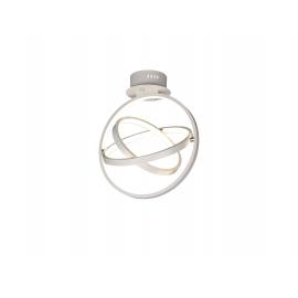 Plafonnier led Orbital Mantra en aluminium blanc mat avec diffuseur acrylique 40w 3000k 1510 lumens