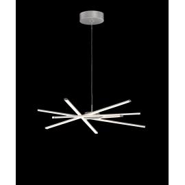 Lustre led Star dimmable Mantra en aluminium argent avec diffuseur acrylique 42w 3000k 3700 lumens