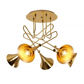 Plafonnier Jazz Mantra métal or 5xE27 20w