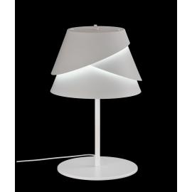 Lampe Alboran Mantra métal blanc découpé 40w E27