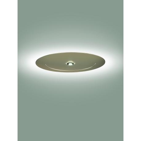 Plafonnier led Smile Sillux fabrication italienne en métal laqué or mat laqué 12w led + 35w led 3100 lumens 3000k