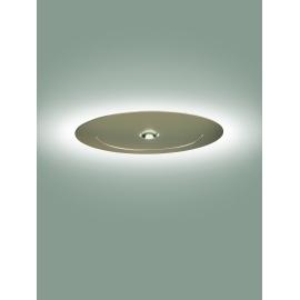Plafonnier led Smile Sillux fabrication italienne en métal laqué or mat laqué 12w led + 24w led 2100 lumens 3000k