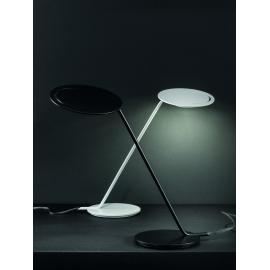 Lampe led Smile Sillux fabrication italienne en métal laqué noir 650 lumens 2700k