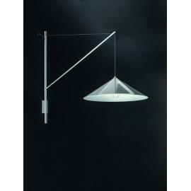 Applique Kali Sillux fabrication italienne en métal laqué blanc, abat jour en acrylique blanc 77w E27