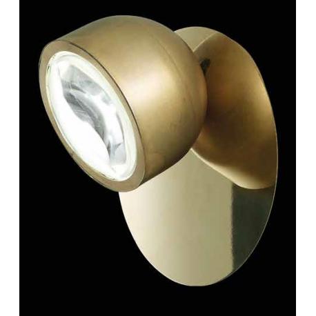 Applique led Pix Sillux fabrication italienne en métal laiton patiné 8w led 650 lumens 3000k