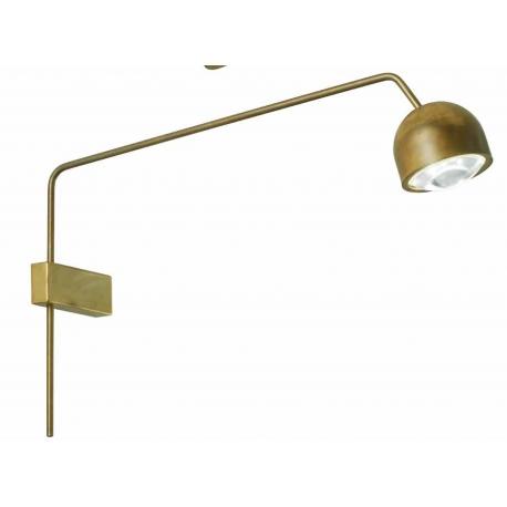 Applique led Pix Sillux fabrication italienne en métal laiton patiné 8,5w led 650 lumens 3000k existe en blanc