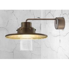 Applique Tre Grazie Sillux fabrication italienne en métal bronze et doré à la feuille d`or 40w E14