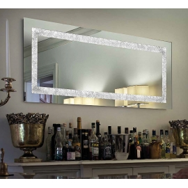 Miroir Narciso Sillux fabrication italienne 2 strip led 28w 1800 lumens 3000k
