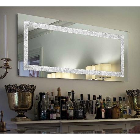 Miroir Narciso Sillux fabrication italienne 3 strip led 45w 2900 lumens 3000k