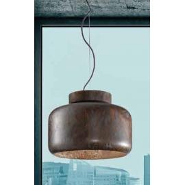 Suspension Abside Sillux fabrication italienne en métal bronze vieilli 77w E27