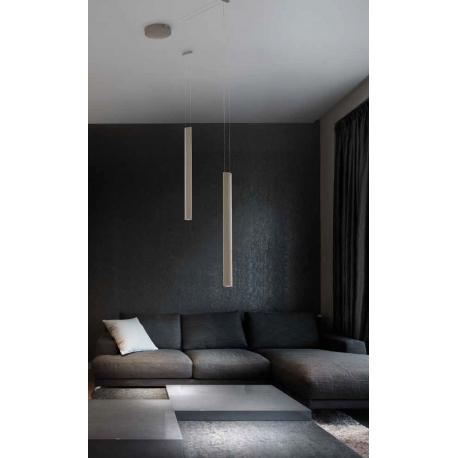 Suspension Led Ovalina Sillux fabrication italienne métal blanc 3x3w 1695 lumens 2700k