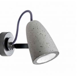 Spot Led Forata Sillux fabrication italienne en ciment, base en métal gris anthracite 7,2w GU10 led 575 lumens 3000k