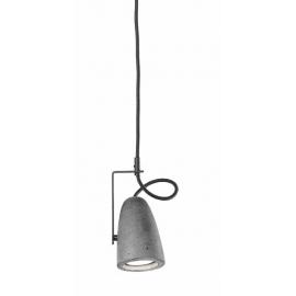 Suspension Led Forata Sillux fabrication italienne en ciment, base en métal gris, cable directionnel 7,2w GU10 led 575 lumens 3