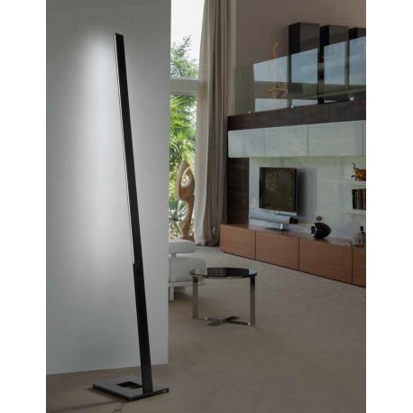 Lampadaire led Trail Sillux fabrication italienne en métal noir 56w led 8000 lumens 3000k existe en blanc