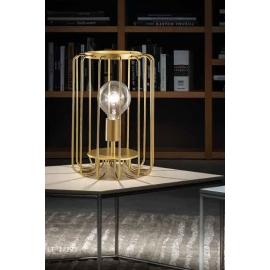 Lampe Fortuna Sillux fabrication italienne en métal or 42w E27 existe en gris brut, en rouille