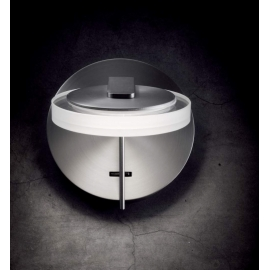 Applique led Onix Mdc métal chrome, vasque en verre 6w led 3000k 650 lumens avec interrupteur