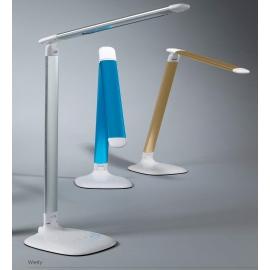 Lampe led touch Werly Mdc métal blanc-doré
