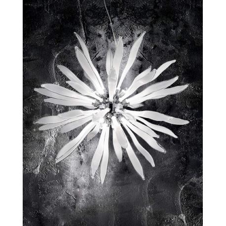 Suspension Corallo Ideal Lux verres blancs 8x40w G9