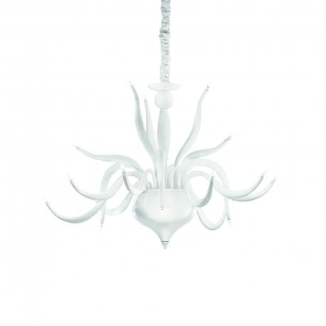 Lustre Elysee Ideal Lux en métal blanc, couvre chaîne en velours 18x20w G4