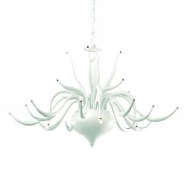Lustre Elysee Ideal Lux en métal blanc, couvre chaîne en velours 24x20w G4