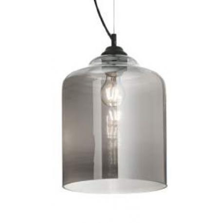 Suspension Bistro Ideal Lux en verre transparent fumé 60w E27