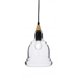 Suspension Gretel Ideal Lux en verre transparent 60w E27