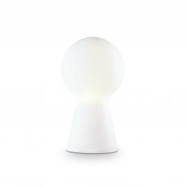 Lampe Birillo Ideal Lux verre blanc 60w E27