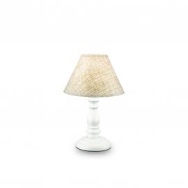 Lampe Provence Ideal Lux en bois tourné blanc 40w E14