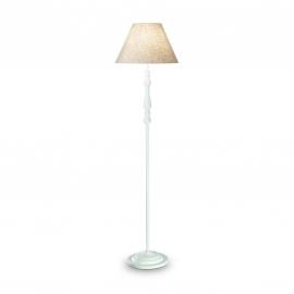 Lampadaire Provence Ideal Lux en bois tourné blanc 60w E27