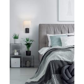 Applique Finess Mdc métal noir mat 40w E27