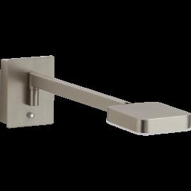 Applique Finess Mdc métal nickel mat, interrupteur tactile 6w led cob 650 lumens 3000k