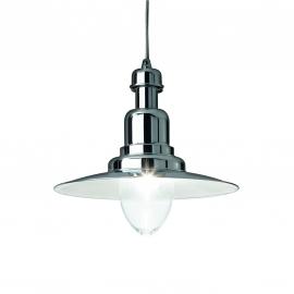 Suspension Fiordi Ideal Lux en métal gris argent 60w E27