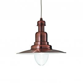 Suspension Fiordi Ideal Lux en métal cuivré 60w E27