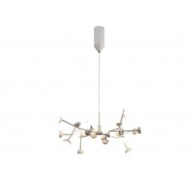 Lustre Led Adn Mantra métal blanc mat avec diffuseur en acrylique 24x3w 3000k 3690 lumens