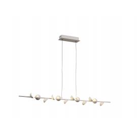 Lustre Led Adn Mantra métal blanc mat avec diffuseur en acrylique 12x3w 3000k 1980 lumens