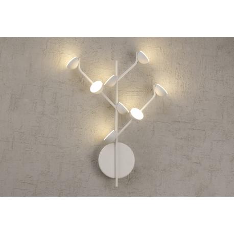 Applique Led Adn Mantra métal blanc mat avec diffuseur en acrylique 8x3w 3000k 1320 lumens