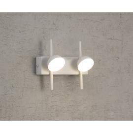 Applique Led Adn Mantra métal blanc mat avec diffuseur en acrylique 2x3w 3000k 330 lumens