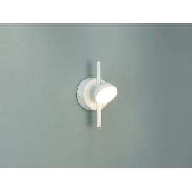 Applique Led Adn Mantra métal blanc mat avec diffuseur en acrylique 3w 3000k 165 lumens