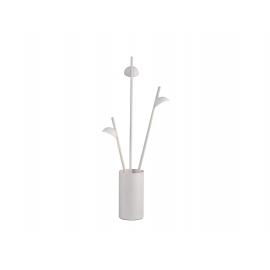 Lampe Led Adn Mantra métal blanc mat avec diffuseur en acrylique 3x3w 3000k 495 lumens