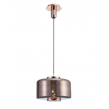 Suspension Jarras Mantra verre couleur cuivre 40w E27
