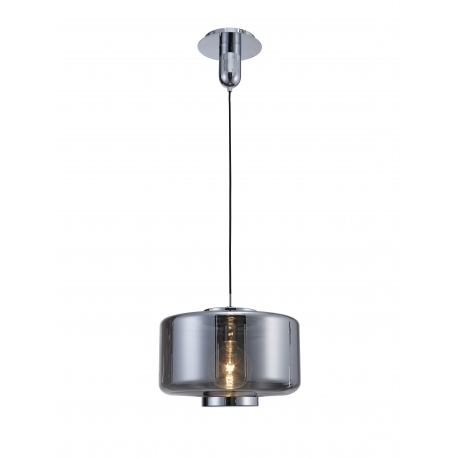 Suspension Jarras Mantra verre couleur chrome, graphite 40w E27