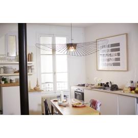 Suspension Vertigo, design Constance Guisset éditée par Petite Friture, en fibre de verre, rubans polyuréthanes coloris noir Di