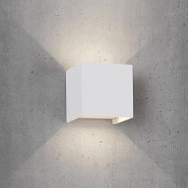 Applique led Davos aluminium blanc mat 12w 3000k 1100 lumens angle d`eclairage réglable avec volets