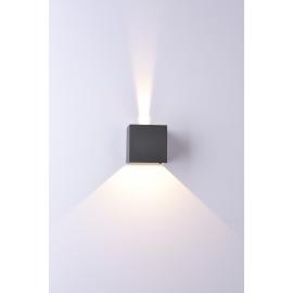 Applique led Davos aluminium gris anthracite 12w 3000k 1100 lumens angle d`eclairage réglable avec volets