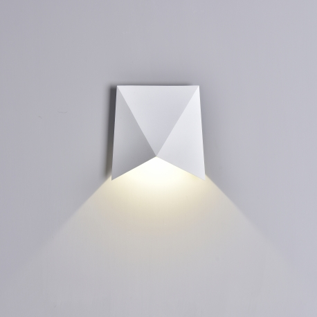 Applique led Triax aluminium blanc mat 8w 3000k 750 lumens IP54