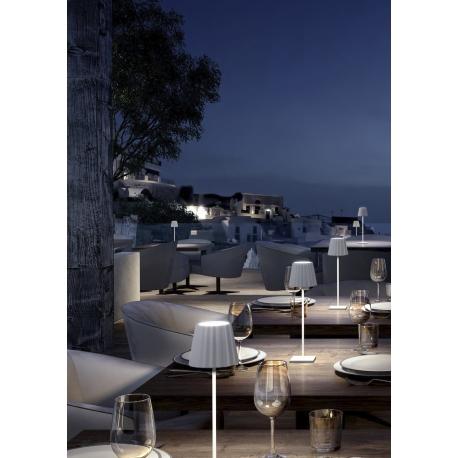 Lampe led rechargeable sensitive K2 aluminium blanc mat 2,2w 3000k 188 lumens