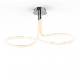 Lustre Led Nur Line Mantra base chrome diffuseur en acrylique 40w 3000k 3000 lumens