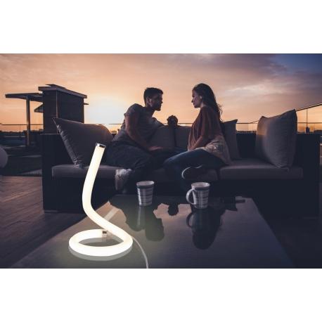 Lampe Led Nur Line Mantra base chrome diffuseur en acrylique 12w 3000k 900 lumens